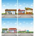 Shops vector image