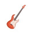 six-stringed electric guitar rock music vector image vector image