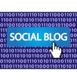 social blog vector image