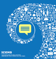 speech bubble Chat think sign symbol Nice set of vector image