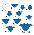 step instructions how to make origami an owl vector image vector image