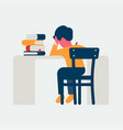 studying child as seen from behind vector image vector image