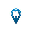 teeth care symbol in pin shape for dentist vector image vector image