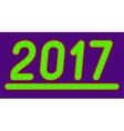 The inscription 2017 made of green lights vector image vector image