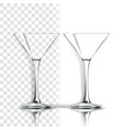 transparent glass classic goblet empty vector image vector image