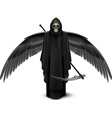Two-winged angel of death vector image vector image