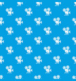 video camera pattern seamless blue vector image vector image