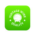 vintage wine icon green vector image vector image