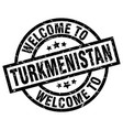 welcome to turkmenistan black stamp vector image vector image