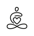 yoga love template vector image