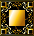 gold frame ornament vector image