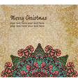 Christmas card with an ornament vector image