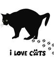 I love cats card vector image