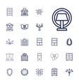 22 decor icons vector image vector image
