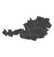 austria map with regions vector image vector image