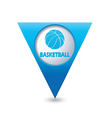 Basketball BLUE triangular map pointer vector image