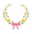 beautiful easter wreath elegant floral collection vector image vector image