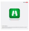 bincular icon green web button vector image