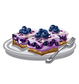 Blueberry creamy cakes vector image