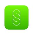 bread icon green vector image vector image
