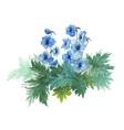 Bush blue anemones vector image vector image