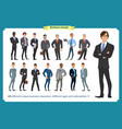 business people set of men in suits vector image