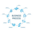 business process isometric concept connected line vector image vector image