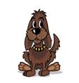 Cartoon brown dog vector image