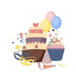 Celebration party carnival festive icons set vector image vector image
