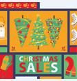 christmas winter tree bazaar sale saleable vector image vector image