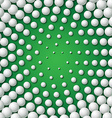 Circular frame made of golf balls vector image