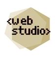 Clolor vintage web studio emblem vector image vector image