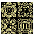 collection of concepts for luxury monograms or vector image