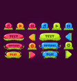 colorful set of various buttons for computer game vector image vector image