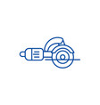 construction toolsjigsaw cutter line icon concept vector image vector image