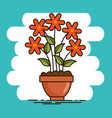cute beautiful house plants cartoons vector image vector image