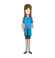 doctor female character medical staff vector image vector image