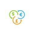 exchange stock market business logo icon design vector image