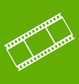 film with frames icon green vector image vector image