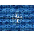 Flag of NATO on a brick wall vector image