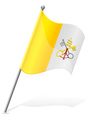flag of Vatican vector image vector image