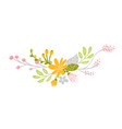 flat abstract green flower herbs bouquet vector image vector image