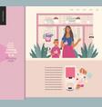 frozen yoghurt bar - small business graphics vector image vector image