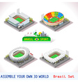 Game Set 11 Building Isometric vector image vector image