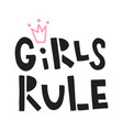 girls rule vector image