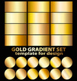 gold foil texture background set realistic vector image vector image