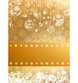 Golden Merry Christmas greeting card EPS 8 vector image vector image