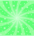 green cartoon swirl design vortex starburst vector image vector image
