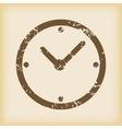 Grungy clock icon vector image vector image