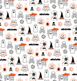 halloween pumpkins and owls vector image vector image